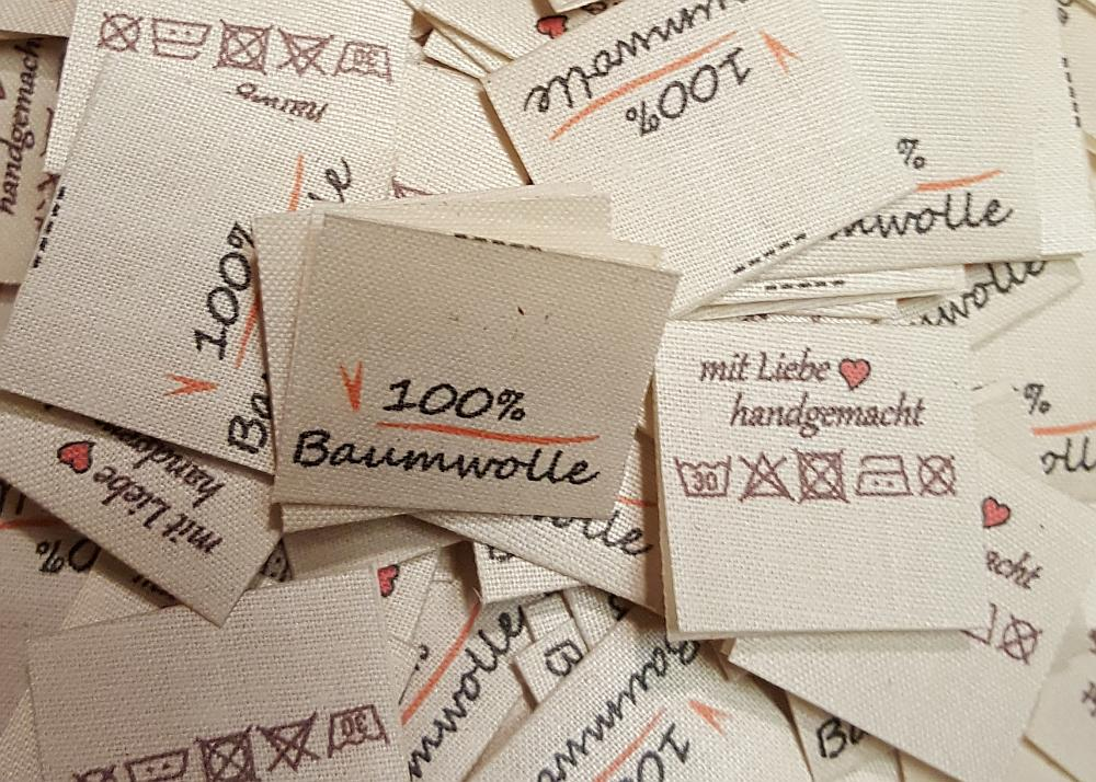 Textiletiketten, Baumwolle, Ökto-Tex, nachhaltig