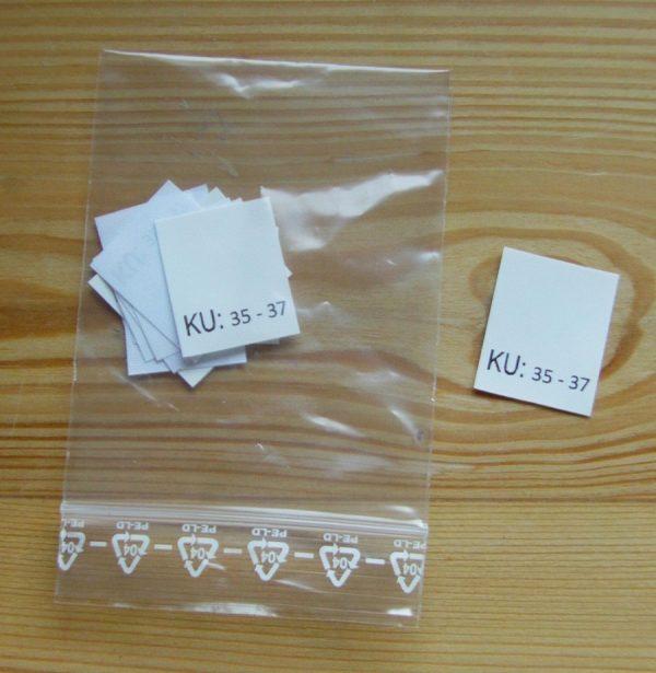 KU: 35 - 37 Kopfumfang-etiketten