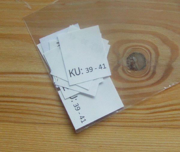 KU: 39 - 41 Kopfumfang-etiketten