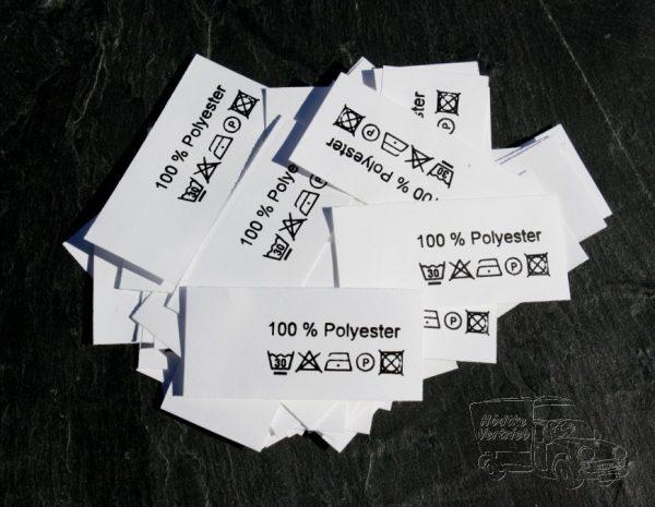 50 Textiletiketten 100% Polyester