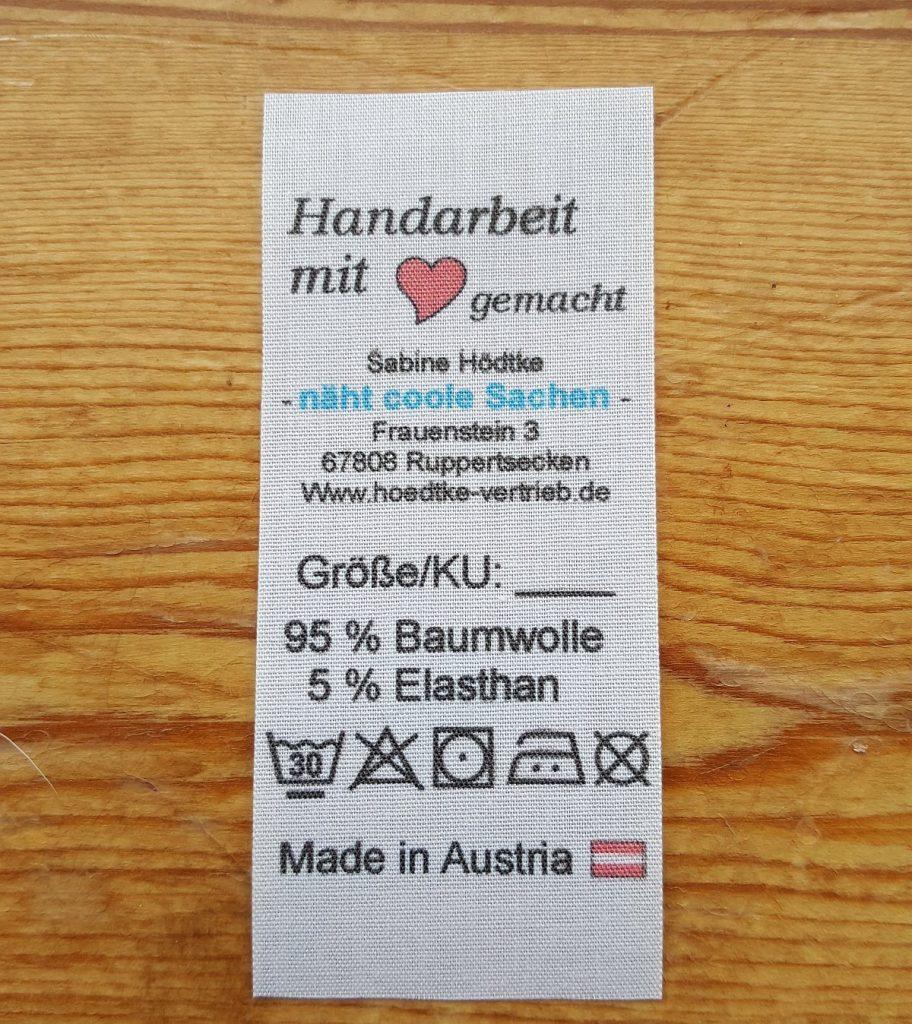 Individualisierbare Textiletiketten