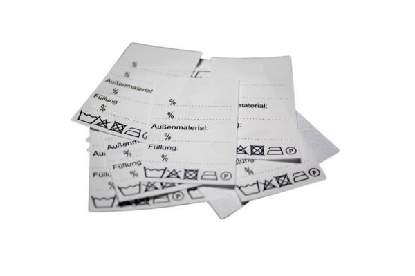 25 Textiletiketten Universal Außenmaterial Füllung