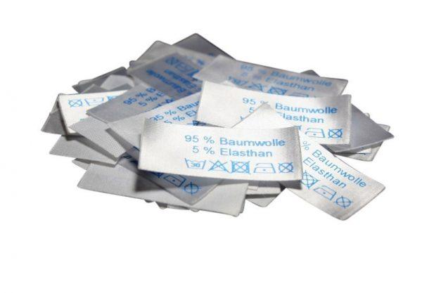 50 Textiletiketten 95% Baumwolle 5% Elasthan
