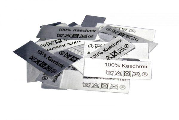 50 Textiletiketten 100% Kaschmir