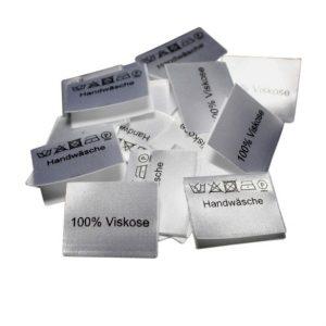25 Textiletiketten 100% Viskose - Handwäsche