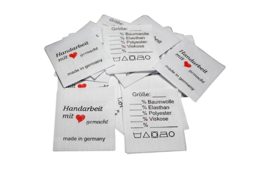 Labels Universal beschreibbar 25 Stück mittig gefalten