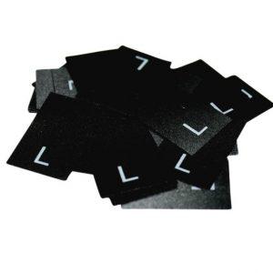 25 Textiletiketten Größe L