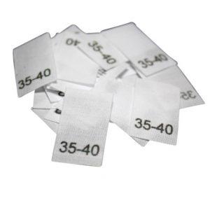 25 Textiletiketten für Mützen - KU 35-40cm