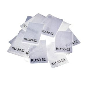 25 Textiletiketten Größe KU: 50-52