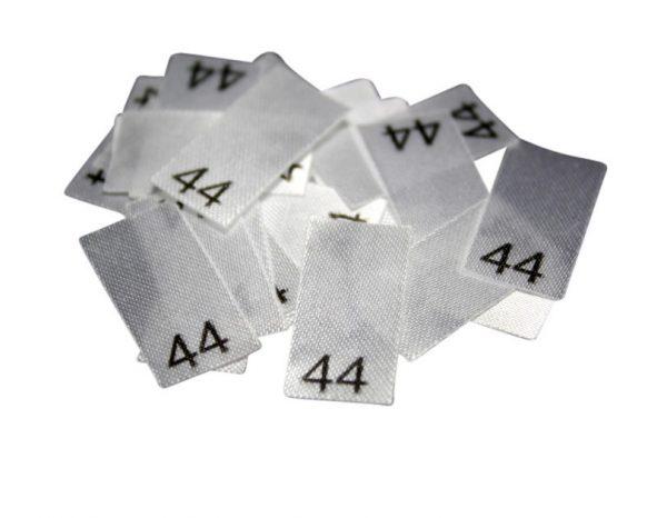25 Textiletiketten - Größe 44