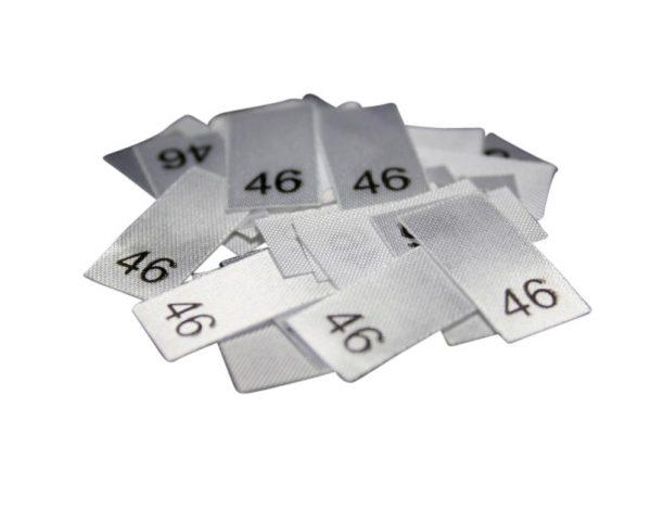 25 Textiletiketten - Größe 46