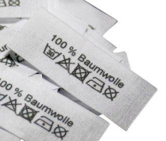 Shop-Textiletiketten Auswahl mit 368 Einnähern zur Auswahl