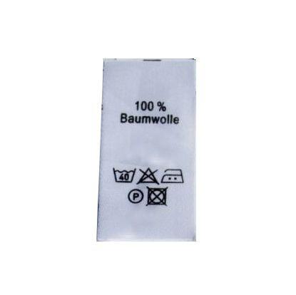 50 Textiletiketten 100% Baumwolle 25x60mm