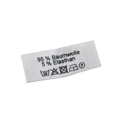 50 Textiletiketten 95 % Baumwolle 5% Elasthan