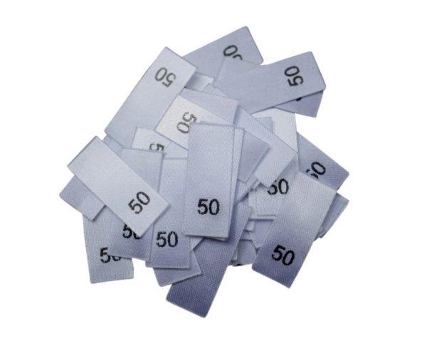 25 Textiletiketten - Größe 50