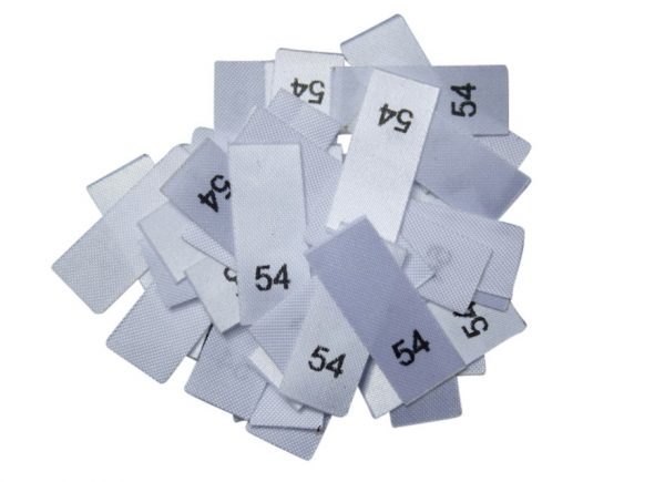 25 Textiletiketten - Größe 54