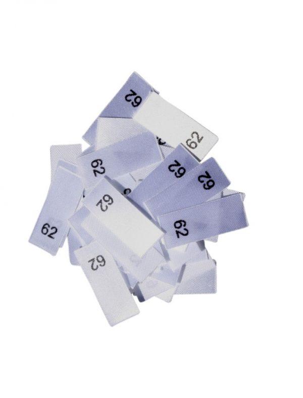 25 Textiletiketten - Größe 62