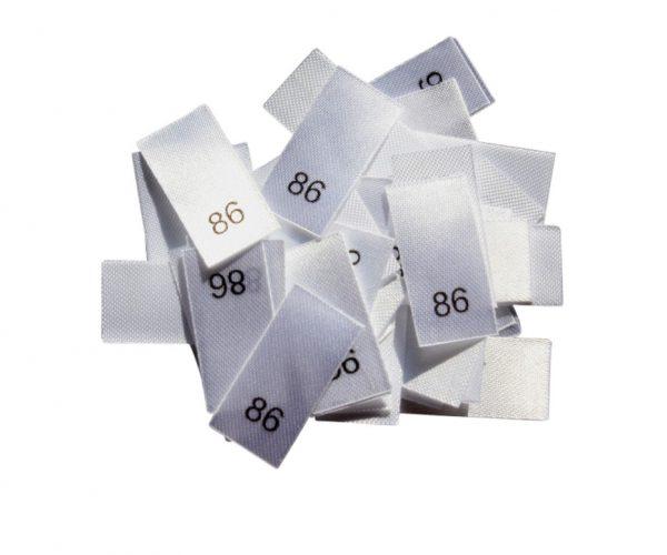 25 Textiletiketten - Größe 86