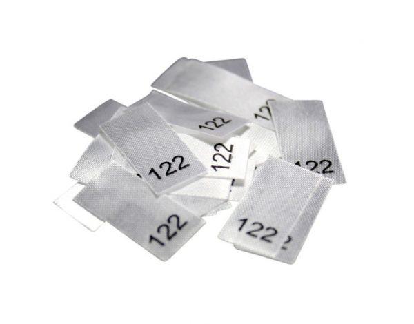 25 Textiletiketten - Größe 122