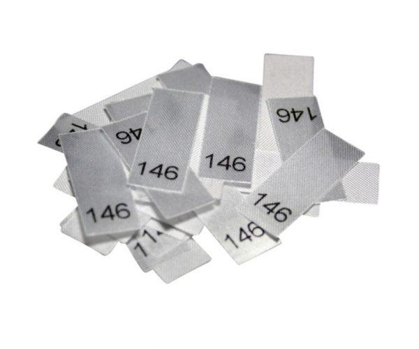 25 Textiletiketten - Größe 146