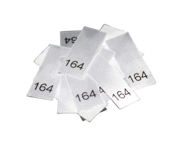 25 Textiletiketten - Größe 164