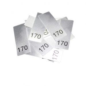 25 Textiletiketten - Größe 170