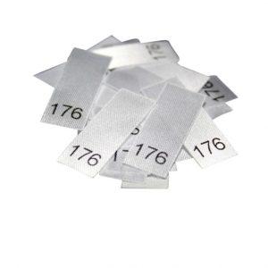 25 Textiletiketten - Größe 176