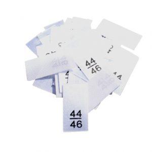 25 Textiletiketten - Größe 44/46