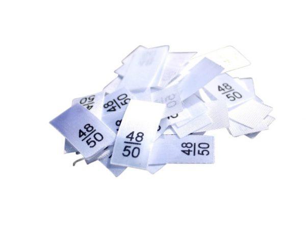 25 Textiletiketten - Größe 48/50