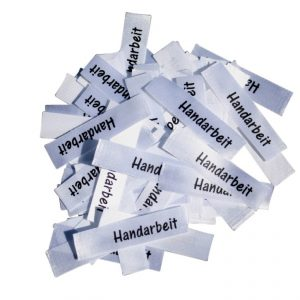25 Textiletiketten Handarbeit
