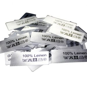 50 Textiletiketten 100% Leinen