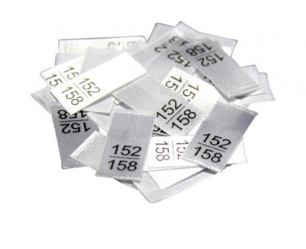 25 Textiletiketten - Größe 152/158