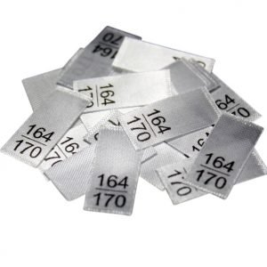 25 Textiletiketten - Größe 164/170