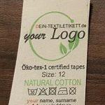 Textil-Label aus Bio Baumwolle Bio-Baumwolletiketten