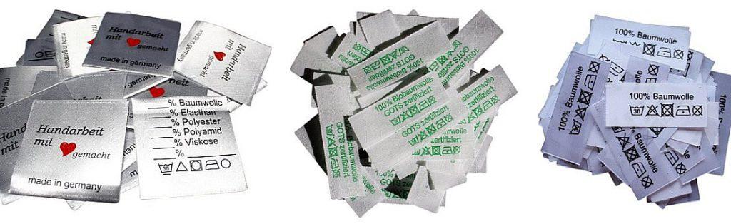 Textiletiketten ab 1,50 €uro, sofort lieferbar von Hoedtke