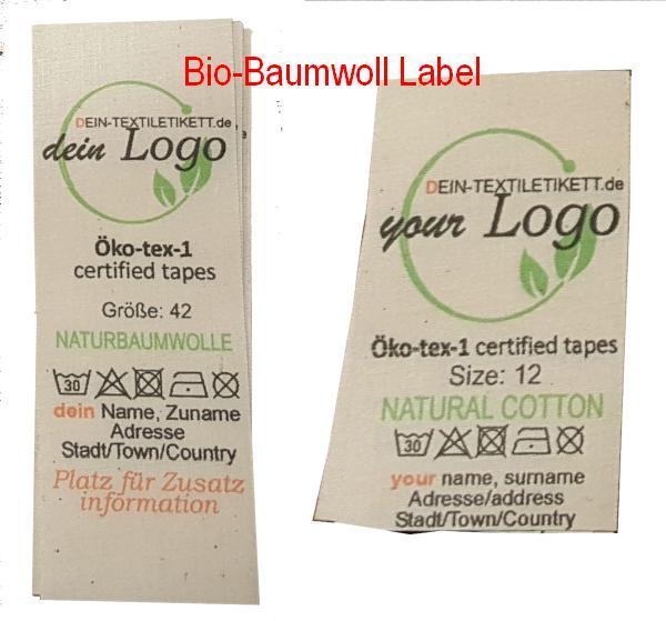 Bio-Baumwoll-Label