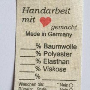 Naturbaumwolle Universal Etiketten Beschreibbar Ginetex Lizenz frei